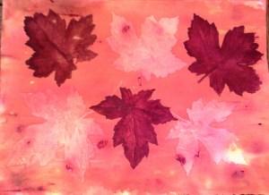 Fun wash 2 - Maple Leaves by Jo-Ann Blondin