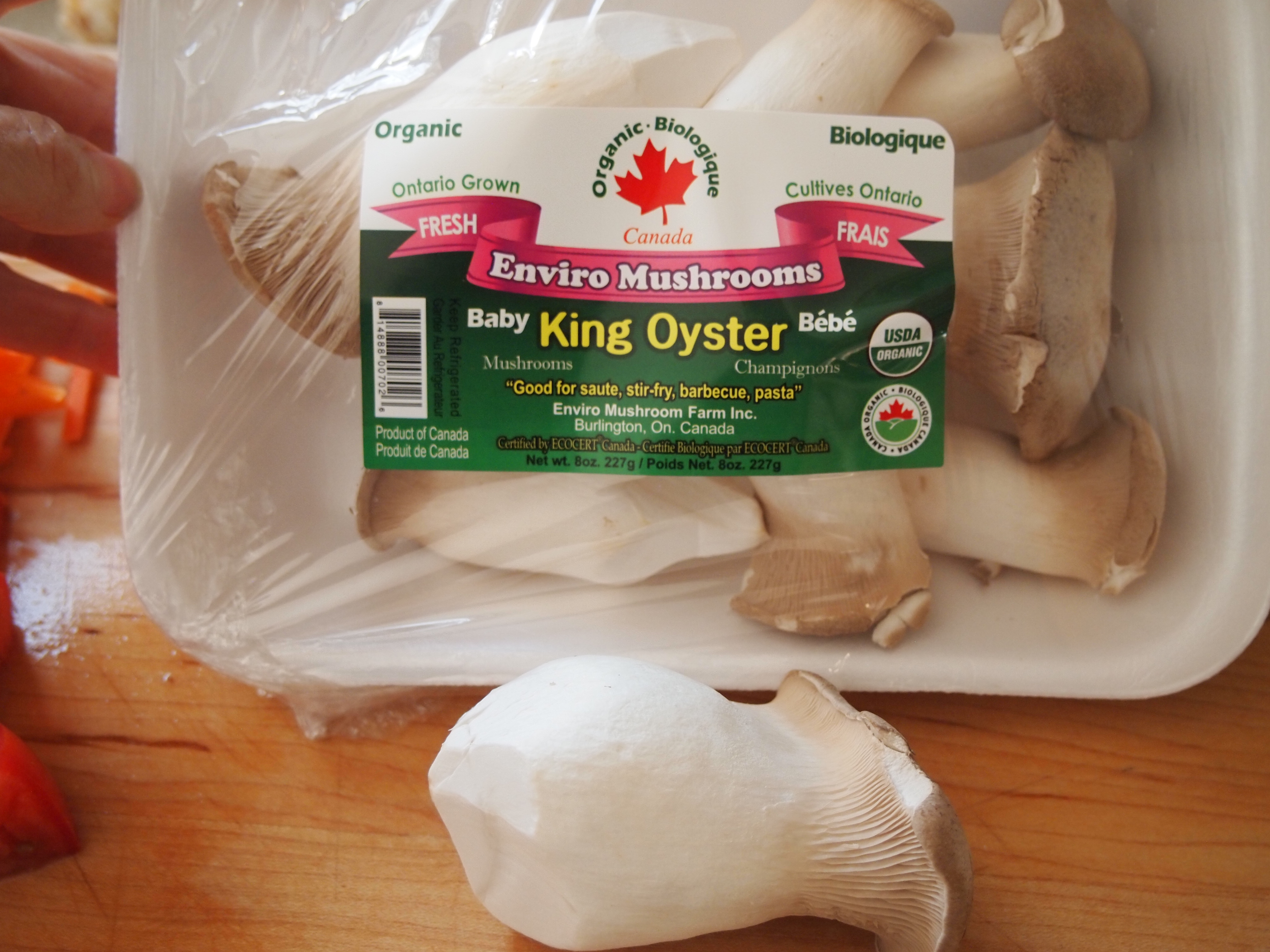 how to cook baby king oyster mushrooms