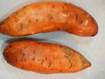 Scrub the sweet potatoes