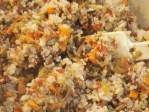 Combine Rice and Quinoa blend with black bean mixture