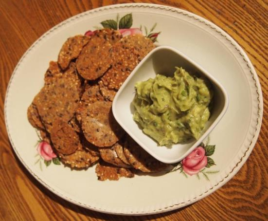 Guacamole Goodness served with Mary's Organic Crackers