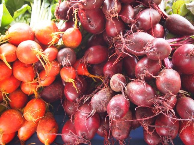 Organic Beets at the Farmer's Market - Copyright Jo-Ann Blondin