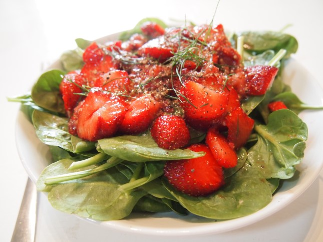 Strawberry Spinach and Dill Salad Copyright Jo-Ann Blondin