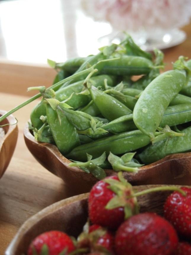 Fresh Peas from The County - Copyright Jo-Ann Blondin