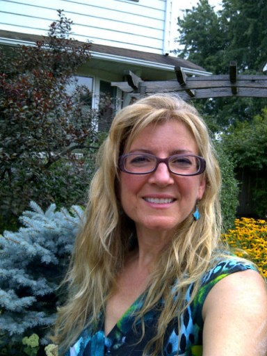 The face of a future Registered Holistic Nutritionist after her last exam.  Let the Happy Dance begin! - Copyright Jo-Ann Blondin