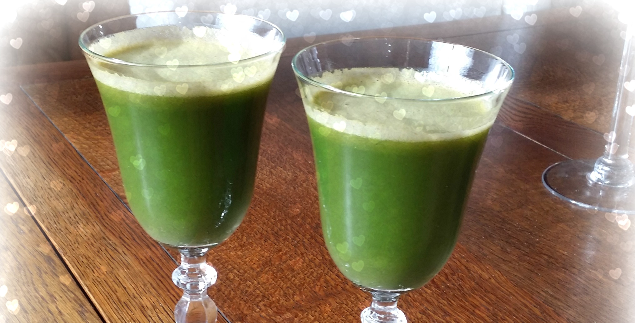 Green Juice Love With Hearts Copyright Jo-Ann Blondin