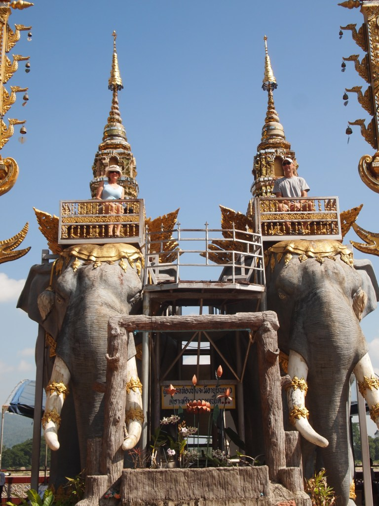 Creativity is every where in Thailand. Elephant Statues - Copyright Jo-Ann Blondin