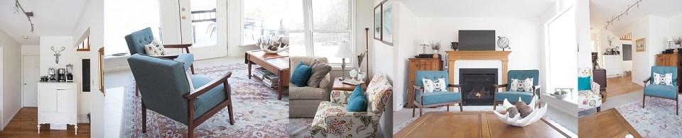 Riverbend reveal living room