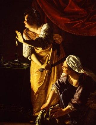 Artemisia Gentileschi / Артемизия Джентилески (1593-1653) - Giuditta con la ancella / Юдифь и её служанка с головой Олоферна ( около 1623-1625)