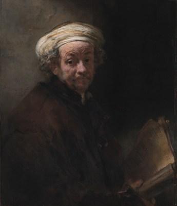 Self-portrait as the apostle Paul *oil on canvas *93.2 x 79.1 cm *signed c.l.: Rembrandt. f. / 1661