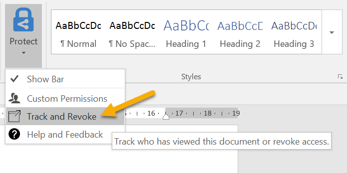 Launch Doc Tracking from Word