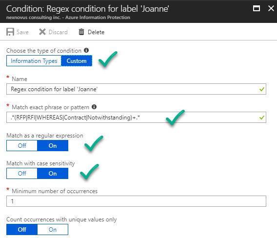 Regex Condition