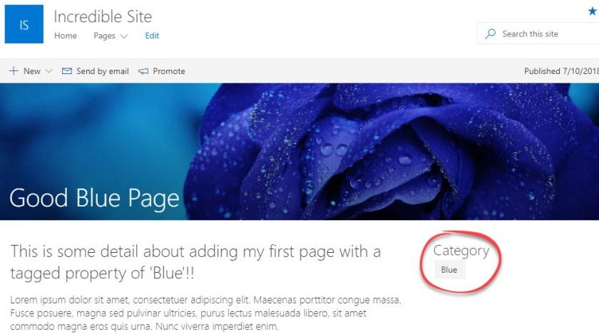PagePropertyonPage