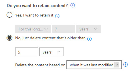 Retention Policy
