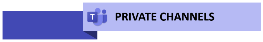 Private channel header