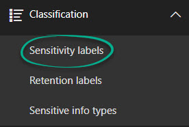 Sensitivity Labels