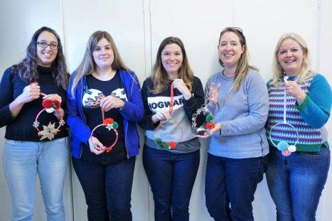 team Christmas wreaths