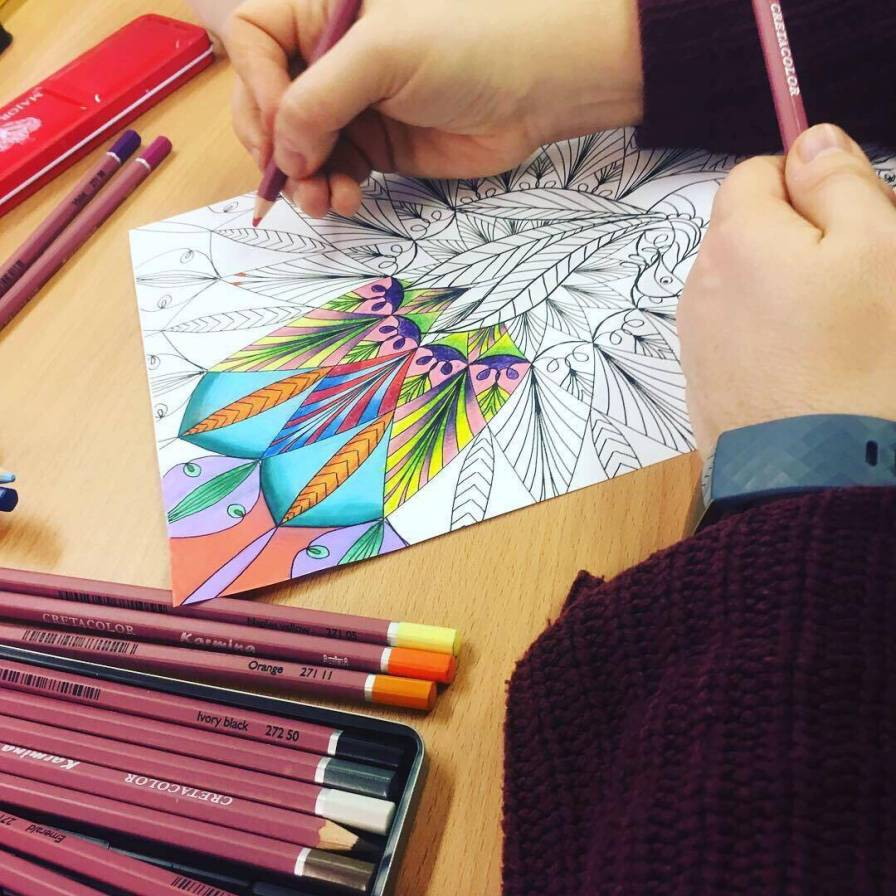 colouring in workshop