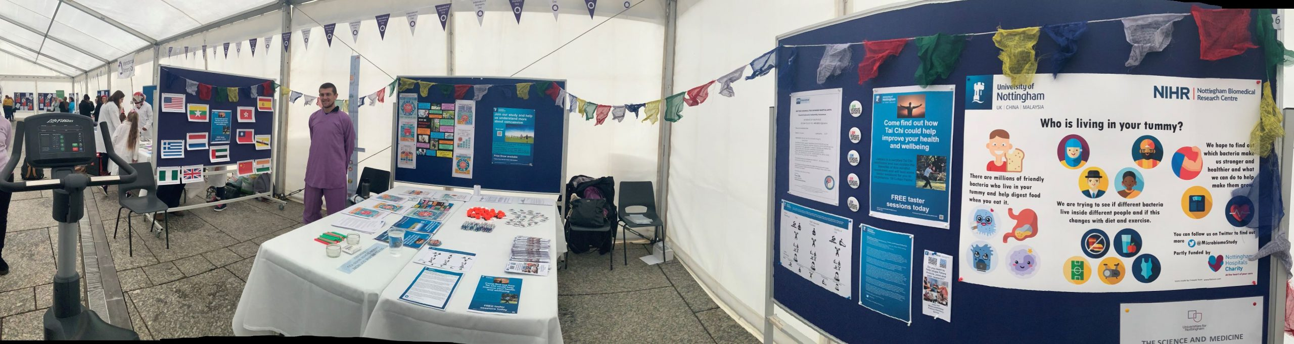 International Women's Day 2020 University of Nottingham Sport and Exercise Medicine stand