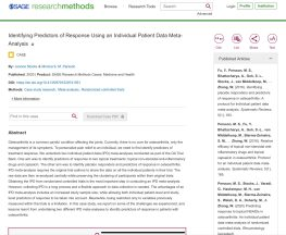 Identifying Predictors of Response Using an Individual Patient Data Meta-Analysis Abstract Screenshot
