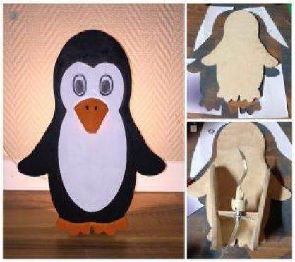 DIY Penguin Lamp
