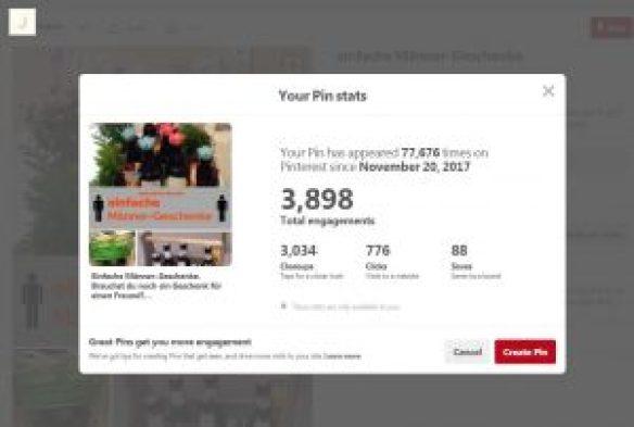 pinterest pin stats from joanns-diy.com
