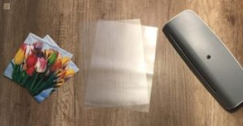 use napkins, laminated pouches and thermal laminator for laminated lamps