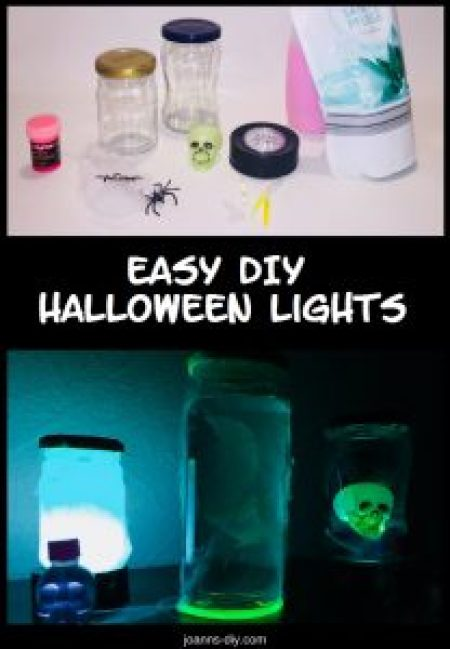materials for spooky diy halloween lights