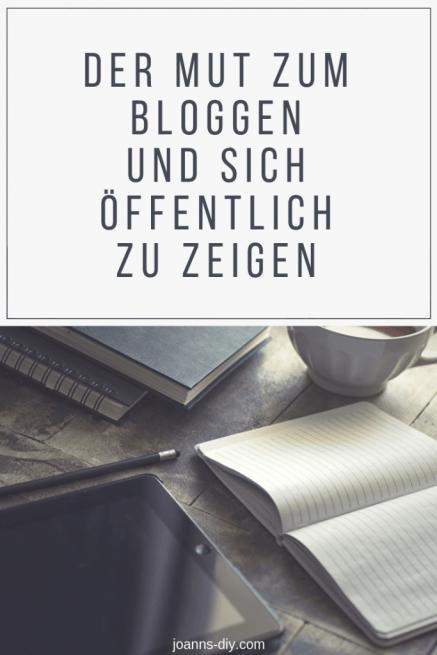 Der Mut zum Bloggen und sich öffentlich zu zeigen - Motivation
