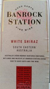 label for Banrock Station White Shiraz