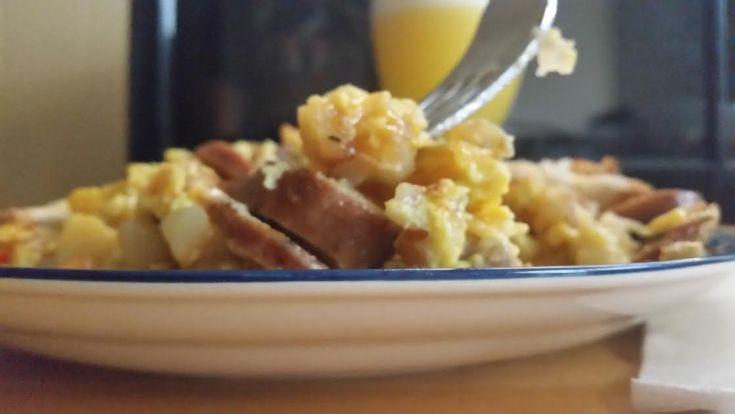 Kielbasa Breakfast Brunch Scramble
