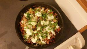 One Skillet Lasagna Recipe from JoAnn's Food Bites