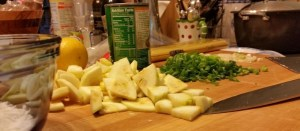 Ingredients for chicken lemon pasta