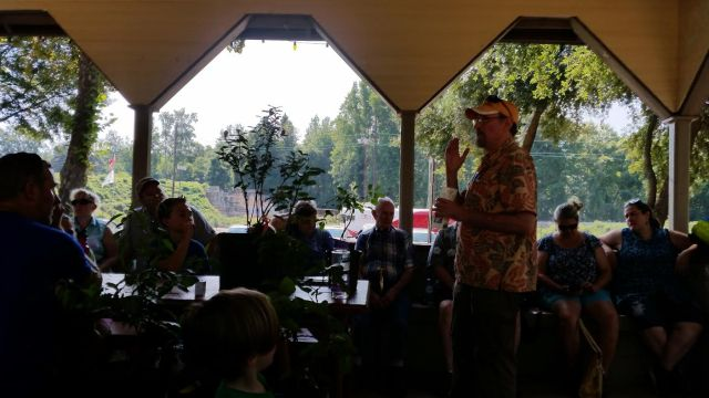 Chuck Marsh at the Williamston Homestead Festival