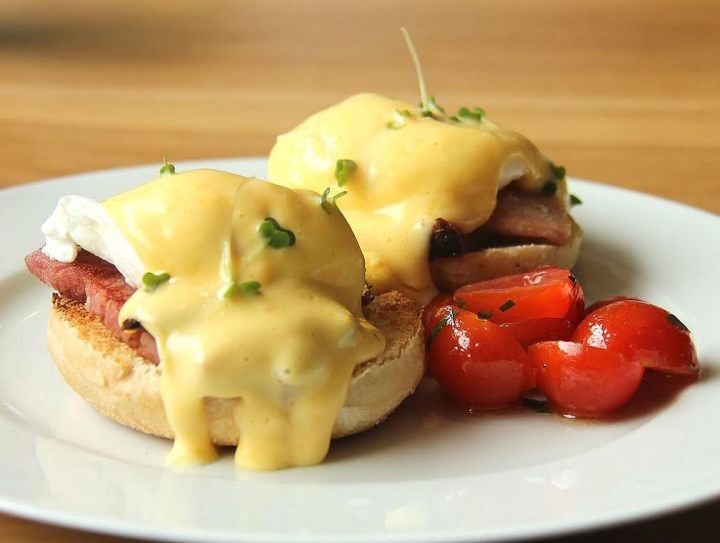 Eggs Benedict with poached eggs