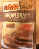 Cracker Barrel Brown Gravy Mix for Bangers and Mash