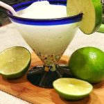 Classic margarita with beef taco casserole