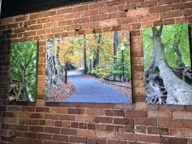 Artwork at Terrace Restaurant Greenville