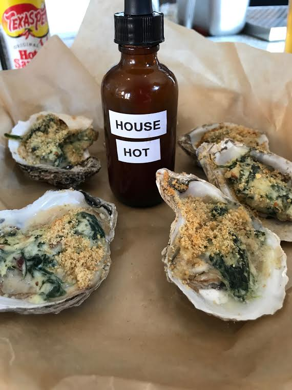 Oyster Rockefeller at Shuck's Oyster Bar
