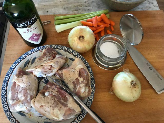 Autumn chicken and dumplings ingredients