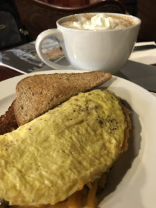 Coffee Underground Omelette and coffee