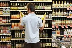 a man food shopping