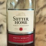 Sutter Home White Merlot for cooking
