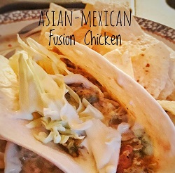 Plated Asian Mexican Fusion Chicken Recipe