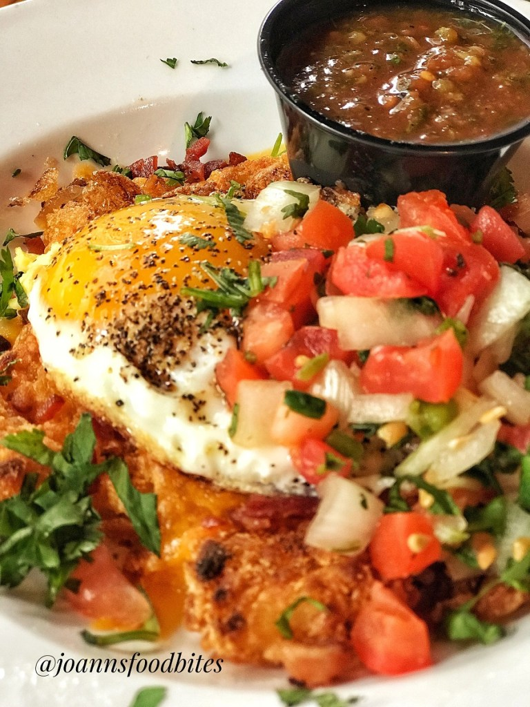Brunch Breakfast Bowl with a side of salsa