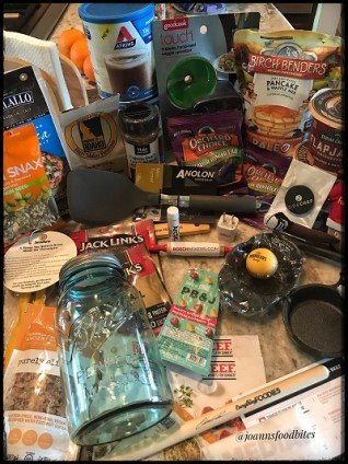 Contents of swag bag from Everything Food Conference