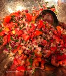 tomatoes, red onion, cilantro, lemon juice, lime juice, jalapeno fresh salsa