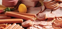 Various deli meats with hot dogs