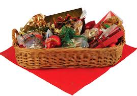 Holiday food gift basket example