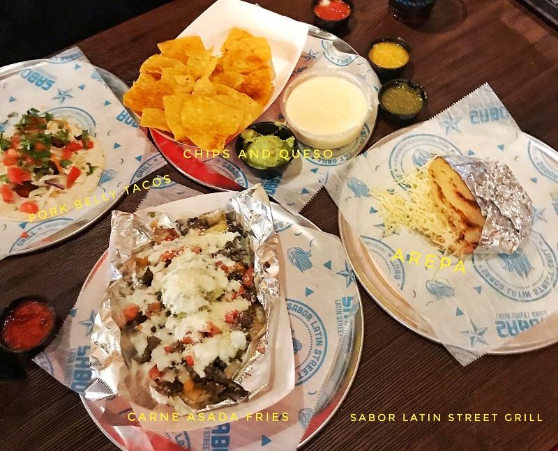 Food at Sabor Latin Street Grill